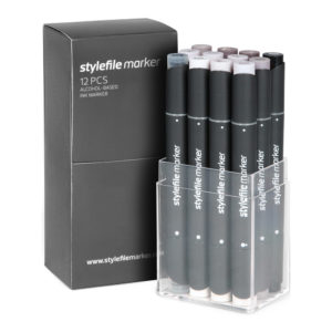 Stylefile Marker 12er Set Warm Grey_SFS12WG_01