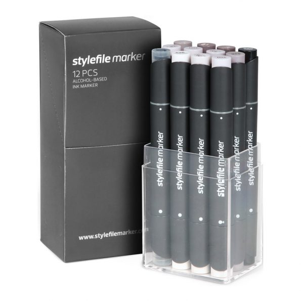 Stylefile Marker 12-Set Warm Grey