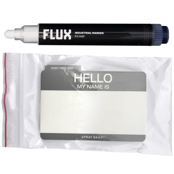 Hello My Name Is – Egg Shell Stickers (50 pcs + FLUX FX.065I Marker)