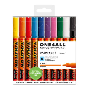 One4all Acrylic Basic-Set1 10st 127HS 2mm_200450
