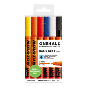 One4all Acrylic Basic-Set1 6st 127HS 2mm_200230