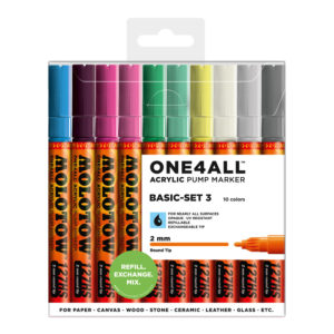 One4all Acrylic Basic-Set3 10st 127HS 2mm_200478