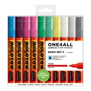 One4all Acrylic Basic-Set3 10st 227HS 4mm_200479