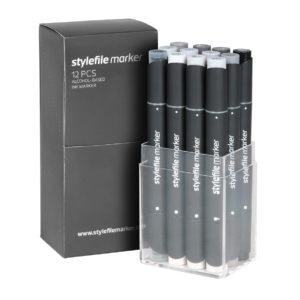 Stylefile Marker Classic 12 Set Neutral Grey_4260216143076_01