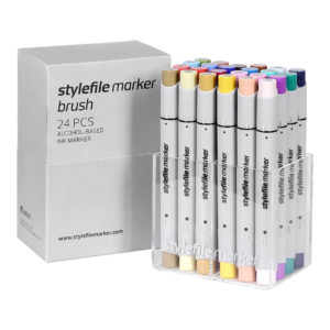 Stylefile Marker Brush 24 set Main B_4260392996435_01