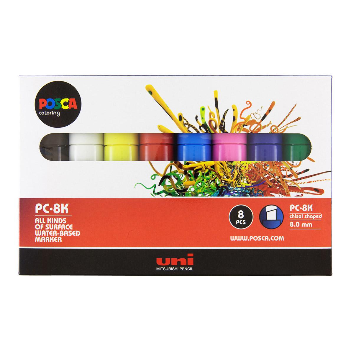 Uni Posca Marker PC-8K, 8set | Spraydaily.com